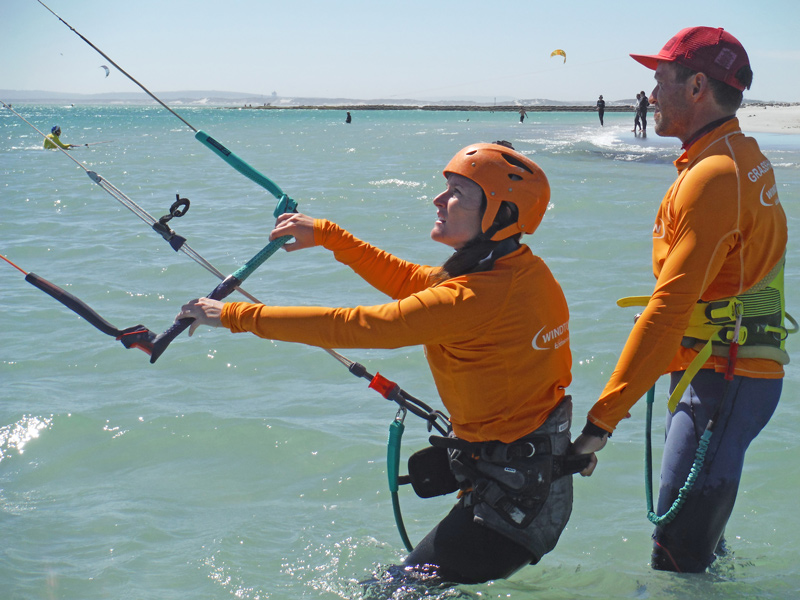 When you're learning how to kitesurf, one of the first things you'll be taught is the kiteboarding safety systems that are put in place on your equipment to help you in an emergency.