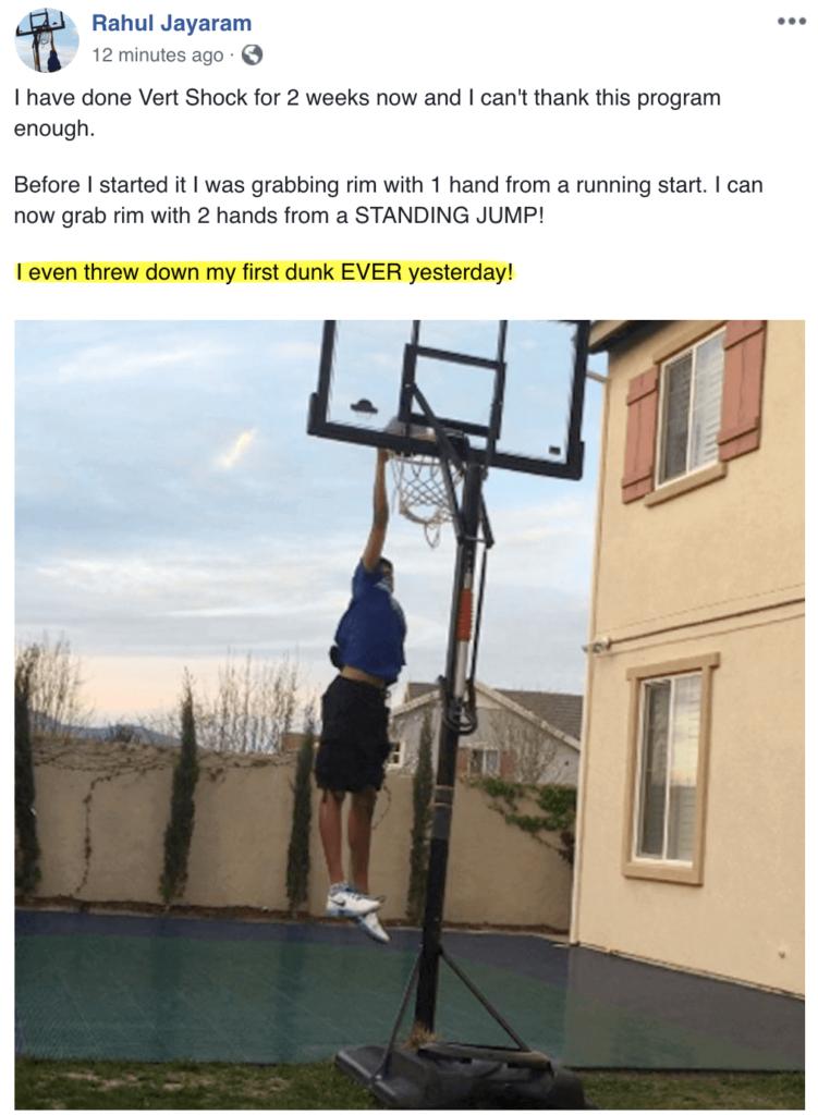dunking basketball hoop